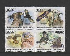 Burundi - 2011, Birds of Prey, Vultures & Eagles set - MNH