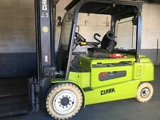 2015 Clark 8000 Lb Pneumatic Electric Forklift With Side Shift and Triple Mast