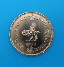 Hong kong dólar 1 1973 ☆ hong kong one dólares 1973