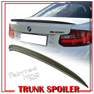 Fit For BMW 2-Series F22 F87 F23 P Type Type Rear Trunk Spoiler ABS Unpainted