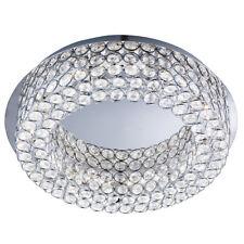 Searchlight 4291-54CC Vesta Chrome 54 LED Ceiling Flush Light Crystal Buttons