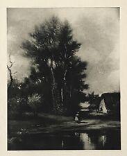 Jules Dupré - Landscape And Pool Aquatint (Framed, 1910)
