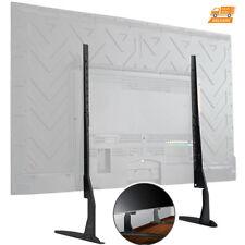 Universal Table Top TV Stand Base Flat Big Screen LED LCD Adjustable Bracket Leg