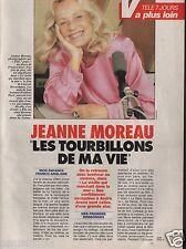 Coupure de presse Clipping 1991 Jeanne Moreau  (3 pa) les tourbillons de ma vie