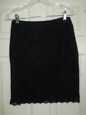 Express Women's Black Floral Lace Mini Skirt Size 4 NWT
