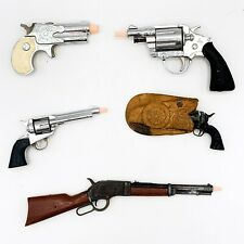 Lot of 5 Antique Toy Cap Guns! Hubley Colt, Nichols Dyna Mite ETC! Nice! 87