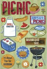 Scrapbooking Crafts Kf Stickers Life's A Picnic Grill Master Cooler Basket Bbq