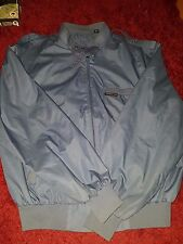 Vintage Members Only Windbreaker Slate Blue Jacket Zippers Snaps Men's 42