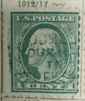 Briefmarke USA George Washington green 1 Cent StampPostage rar selten