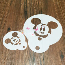 2 Pcs Packed Mouse Cookie Cake Stencil Decorate Mold Fondant Biscuit Tool