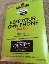 Straight Talk Activation Cdma Gsm Phone Sim Card Nano Micro Talk