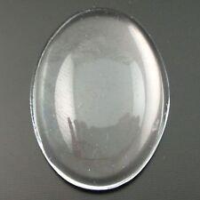 20pcs 25*18mm Acrylic Transparent Oval Cameo Cabochons 06925