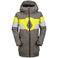 2018 NWT BOYS VOLCOM WEST SNOWBOARD JACKET $160 12Y/L charcoal athletic fit