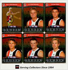 2010 AFL Teamcoach Trading Card Silver Parallel Team set St. Kilda (13)