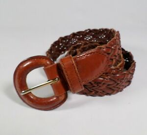 Fossil Braided Leather Belt BT5032 Brown Large 30 32 34