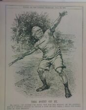 """7x10"""" punch cartoon 1913 THE POINT OF IT asquith plural voting / javelin practic"""