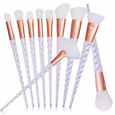 New 10pcs Unicorn Spiral Makeup Brushes Set Eyeshadow Powder Brushes Kit