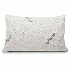 Sleep Shredded Bamboo Memory Foam Pillow W/ Free Pillowcase,Neck Support, Queen