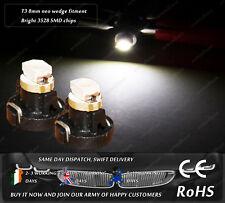 LED SMD T3 8mm Neo Wedge Xenon White Dashboard Cluster Speedo Light Bulbs 12V