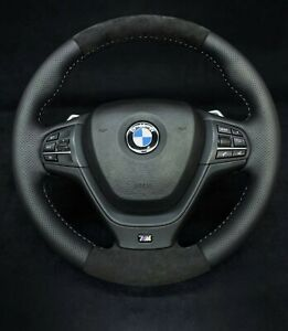 BMW F25 F26 X3 X4 LCI Steering Wheel Shift Paddles M type Alcantara 32307848528