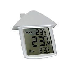 OUTDOOR INDOOR LCD DIGITAL HOME WINDOW THERMOMETER WEATHER STATION SUCTION CUP