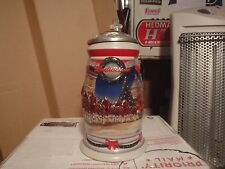 2001 HOLIDAY LIDDED SIGNATURE EDITION  BUDWEISER  BEER STEINS