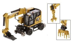 1/87 HO DM Caterpillar Cat M323F Railroad Wheeled Excavator Diecast Model 85656