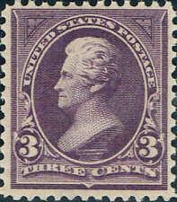 #268 1895 3 CENT JACKSON BUREAU ISSUE MINT-OG/NH--VF+