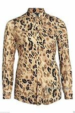 Party Animal Print Plus Size Tops & Shirts for Women