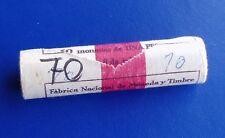 Cartucho 50 monedas 1 peseta año 1966 *70 original FNMT - SPAIN roll km#796
