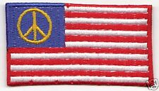USA PEACE Country Flag Patch United States of America