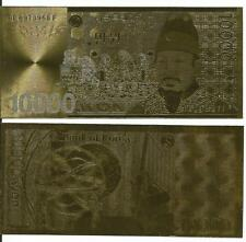 24 KT Gold 10000 WON, KOREA Banknote* Golden Bill in slab holder, rare gift item