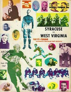 1967 9/30 football program West Virginia v Syracuse Orangemen Larry Csonka FAIR
