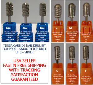 ToDacUSA CARBIDE NAIL DRILL BIT FOR PROS - SMOOTH TOP DRILL BITS