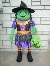 HALLOWEEN WITCH PORCH KID GREETER PROP 3' TALL GUEST GREETER DISPLAY