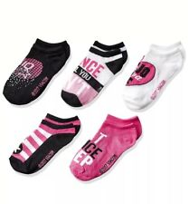 Nwt Jojo Siwa 5Pk Ankle Socks 🎀 6-8 1/2 Pink White Black Bow Dance Athletic