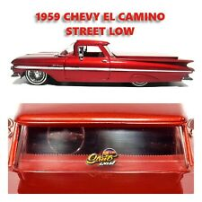 1959 CHEVY EL CAMINO SPORT CANDY RED JADA 1/24 STREET LOW