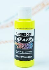 Createx Airbrush Colors 5405 Fluorescent Yellow 4oz. water-based paint