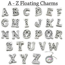Wholesale 26 Initial Letter A - Z Crystal Floating Charms Living Memory Lockets