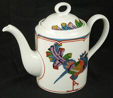 Vintage Authentic Reproduction Oriental Peacock Georges Briard Coffee / Tea Pot