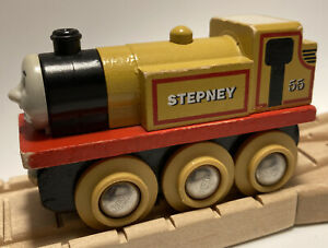 Vintage BRIO BRAND Thomas Wooden Railway Train Set Stepney Britt Allcroft Engine