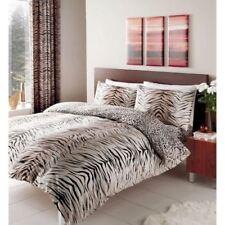 Parures et housses de couette marrons en polycoton pour chambre à coucher
