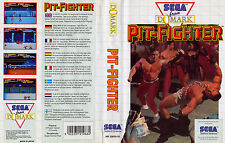 Pit Fighter Sega Master System Replacement Box Art Case Insert Cover Scan Repr.