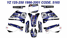 5165 Yamaha YZ 125-250 1996-2001 Autocollants Déco Graphics Stickers Decals Kits