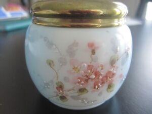 Antique Wave Crest Wavecrest Hand Painted Pomade Jar RARE