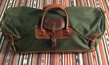 The ORVIS Company Inc. Leather Canvas Hunting LARGE Duffel Bag Gokey Battenkill