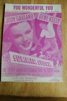"VINTAGE ""YOU WONDERFUL YOU"" SHEET MUSIC 1950 JUDY GARLAND GENE KELLY SUMMER STOC"