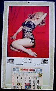 "Marilyn Monroe 1955 Vintage Pinup Calendar Lure Of Lace Litho Ad 10x17"" EX COA"