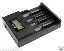 Soshine SC H4 universal LCD battery charger Li-ion NiMH  Li-FePO4 AUS standards