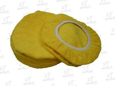 "Microfiber Cloth Orbital Bonnet 11"" - Large Thick Yellow (6 Units/ 1 Pack)"